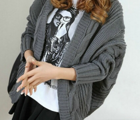 Bat Loose Knit Sweat..