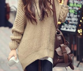 Casual Knit Hooded S..