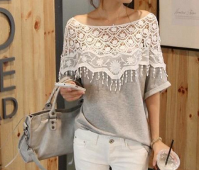 Lace Hollow Bat Slee..