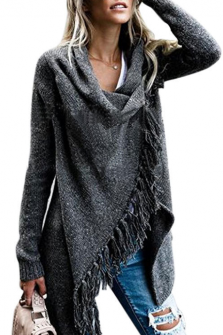 Long Sleeve Knitting Sweater Coat