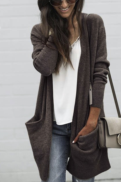 Womens Long Cardigan Sweater Jacket