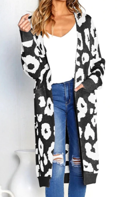Womens Casual Long Cardigan Sweater