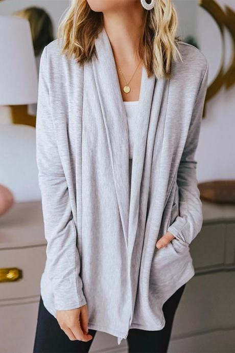Women'S Loose Long-Sleeved Cardigan Coat