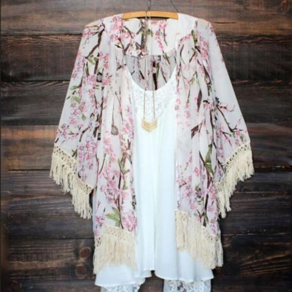 Sexy Women Vintage Boho Kaftan Cardigan Cover Up Dress Lace Kimono Beach Swimwear
