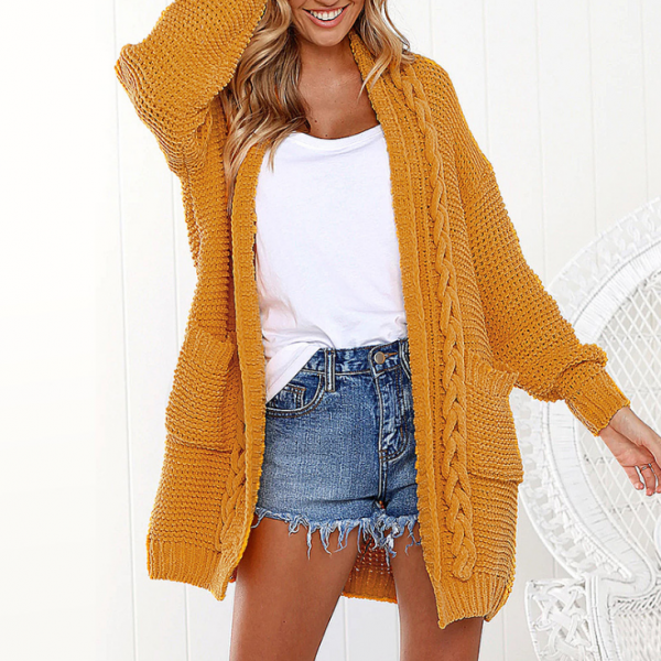 Oversized Chunky Knit Sweater Cardigan