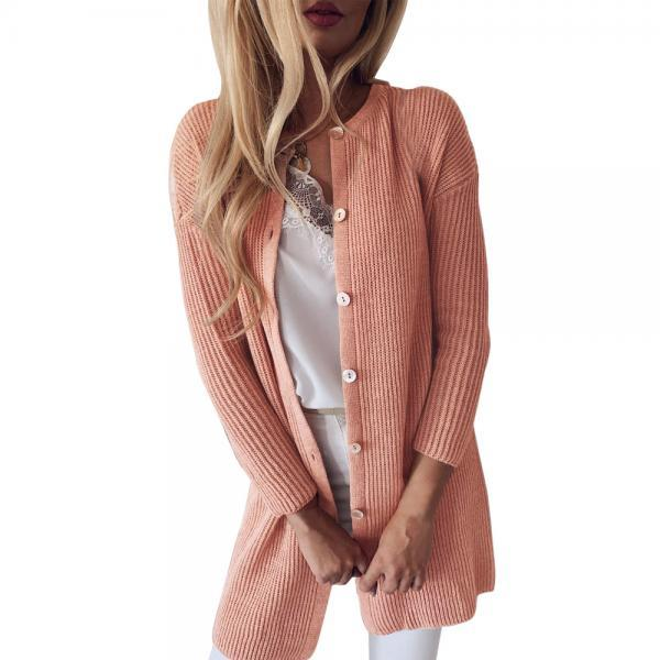 Slim Long-Sleeved Knit Cardigan Sweater Jacket
