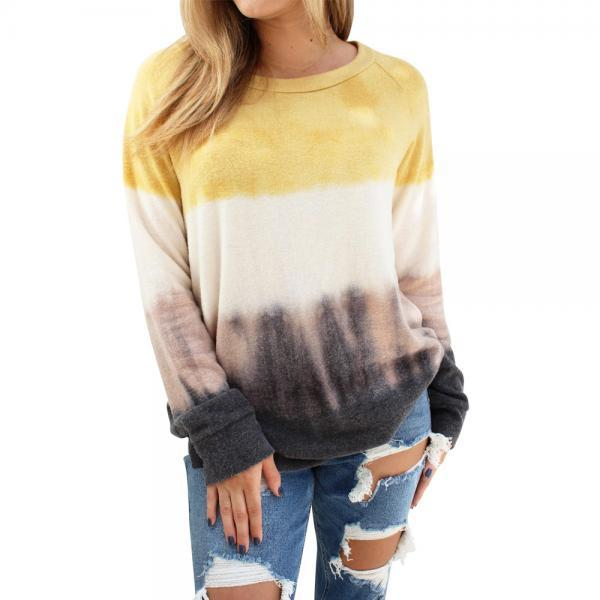 Casual Printed Round Neck Long Sleeve Sweater