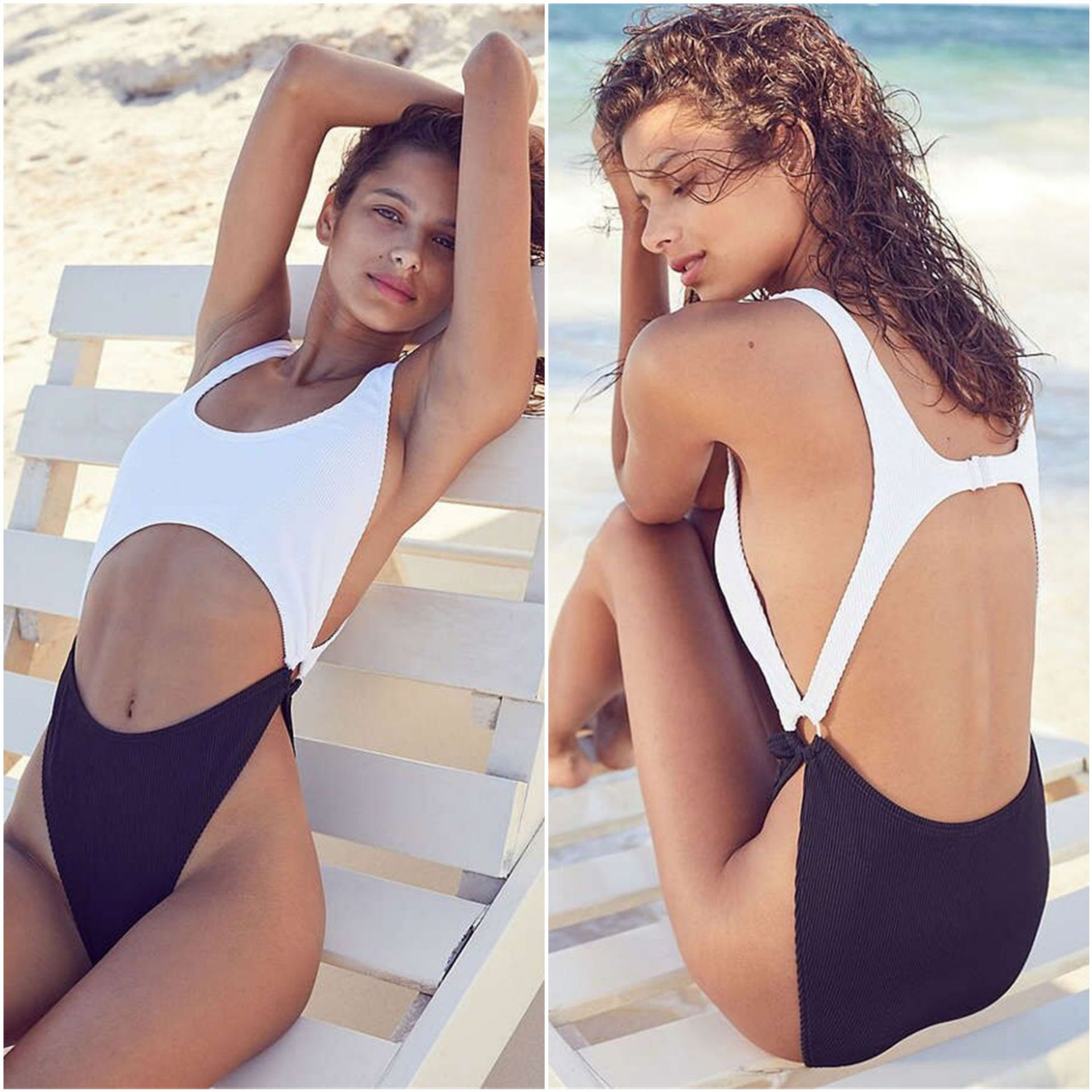 0fc23632b3b80 2018 Sexy Solid Color Bikini One Piece Swimwear on Luulla